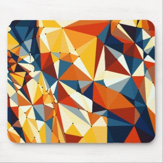 Net of multicolored triangles mouse pad