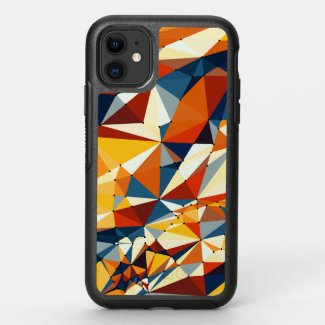 Net of multicolored triangles OtterBox symmetry iPhone 11 case
