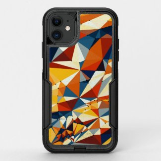 Net of multicolored triangles OtterBox commuter iPhone 11 case