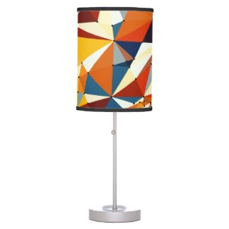 Net of multicolored triangles table lamp