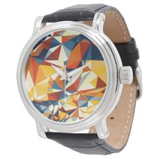 Net of multicolored triangles watch