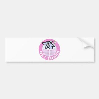 net-shark-pink bumper sticker