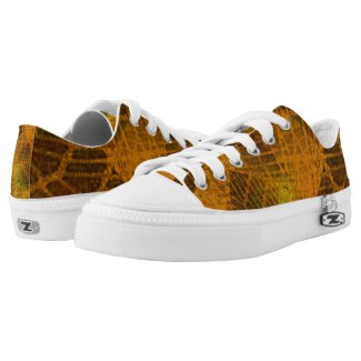 Net texture (design for collectible stickers) printed shoes