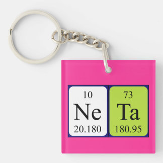 Neta periodic table name keyring keychains