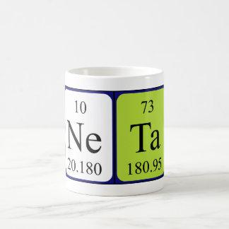 Neta periodic table name mug