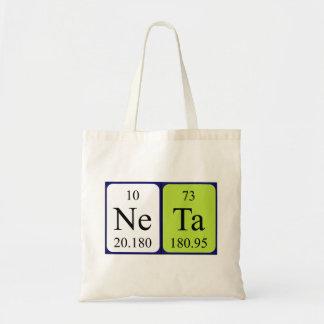 Neta periodic table name tote bag