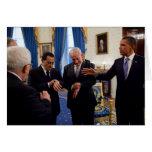 Netanyah, Mubarek, y reunión de Obama en Casa Blan Felicitacion