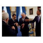 Netanyah, Mubarek, y reunión de Obama en Casa Blan Tarjeton