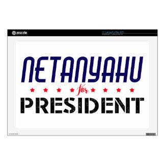 "Netanyahu for President 17"" Laptop Decal"