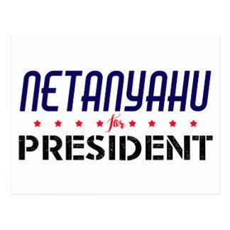 Netanyahu for President Postcard