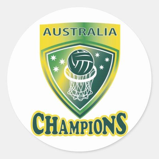 netball ball hoop champions australia classic round sticker