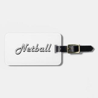 Netball Classic Retro Design Luggage Tag