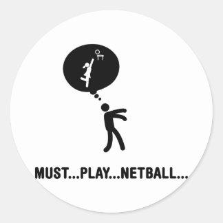 Netball Classic Round Sticker