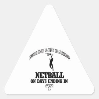 NETBALL designs Triangle Sticker
