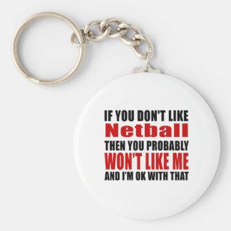 Netball Don't Like Designs Keychain