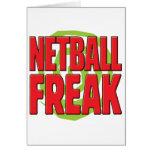 Netball Freak R Greeting Card