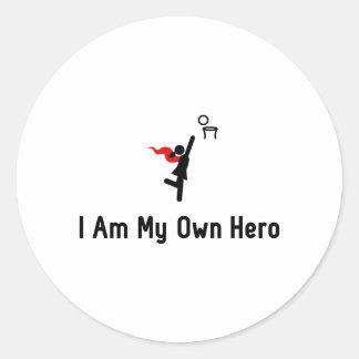 Netball Hero Classic Round Sticker