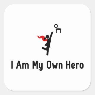 Netball Hero Square Sticker