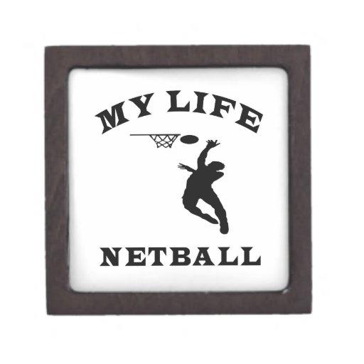 Netball My Life Premium Jewelry Box