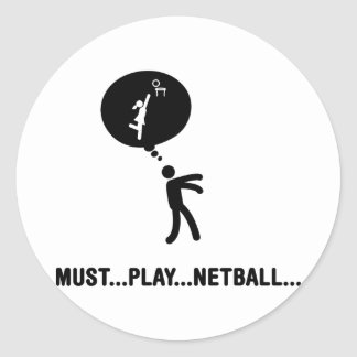 Netball Pegatina Redonda