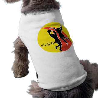 Netball player Singapore 2011 Pet T Shirt