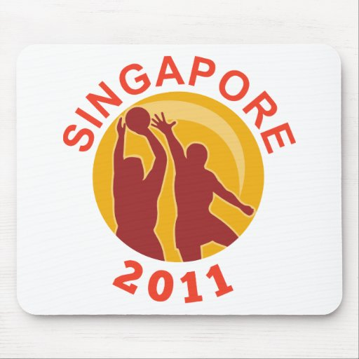 Netball Singapore 2011 player passing ball Mouse Pad
