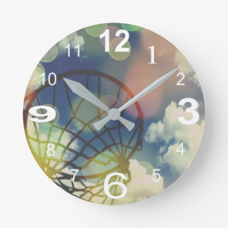 Netball Themed Picture Print Design Round Clock