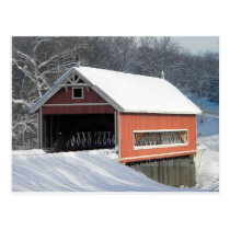 Netcher Rd Bridge Winter Postcard