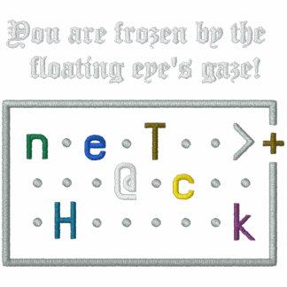 Nethack Floating Eye Embroidered Hooded Sweatshirts