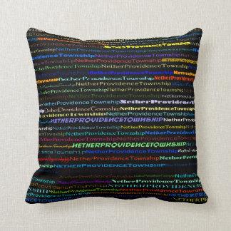 Nether Providence Twnshp TextDesignI Throw Pillow