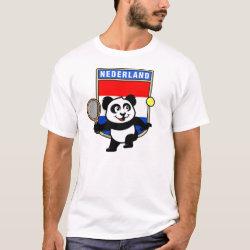 Men's Basic T-Shirt with Dutch Tennis Panda design