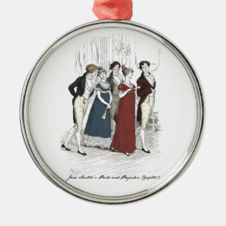 Netherfield Party Arrives at Meryton Assembly Metal Ornament