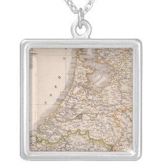 Netherland, Belgium Square Pendant Necklace