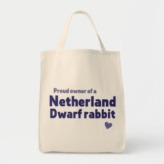 Netherland Dwarf rabbit Grocery Tote Bag