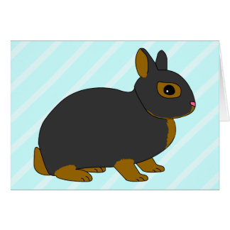 Netherland Dwarf Rabbit Card