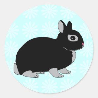 Netherland Dwarf Rabbit Classic Round Sticker