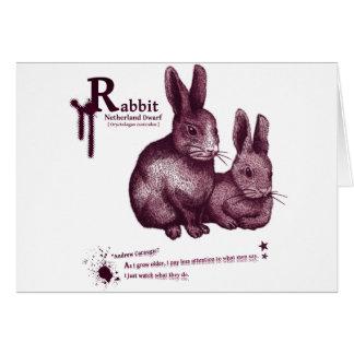 Netherland Dwarf Rabbit -jam グリーティングカード