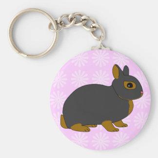 Netherland Dwarf Rabbit Keychain