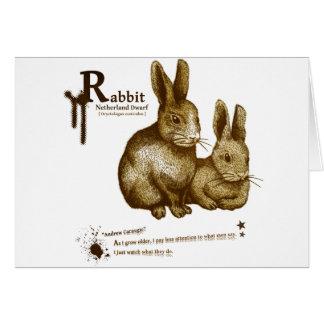 Netherland Dwarf Rabbit - sepia カード