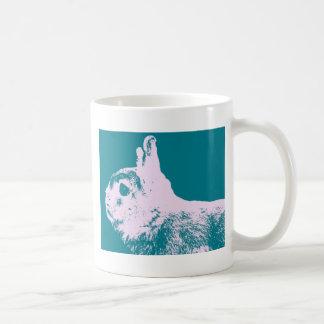 Netherland dwarf rabbit teal coffee mug