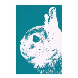 Netherland dwarf rabbit teal customized stationery