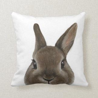 Netherland Dwarf rabbit Throw Pillow