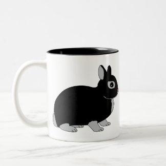 Netherland Dwarf Rabbit Two-Tone Coffee Mug