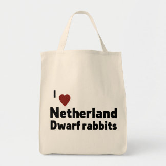 Netherland Dwarf rabbits Grocery Tote Bag