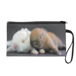 Netherland Dwarf Rabbits Wristlet Purse