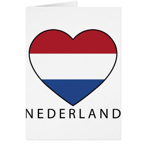Netherland Heart with black NEDERLAND Greeting Card