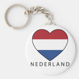 Netherland Heart with black NEDERLAND Llavero Redondo Tipo Pin