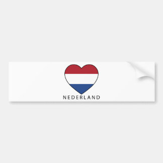 Netherland Heart with black NEDERLAND Pegatina Para Auto