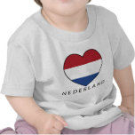 Netherland Heart with black NEDERLAND T Shirts