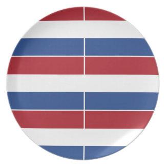 Netherland Holland Patriotic Pattern Dinner Plate